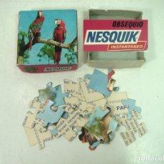 Puzzles: COMPLETO ¡¡ PUZLE OBSEQUIO NESQUIK -PAPAGAYOS AÑOS 70 80 - PUZZLE INSTANTANEO 20 PZS-REGALO. Lote 166182974