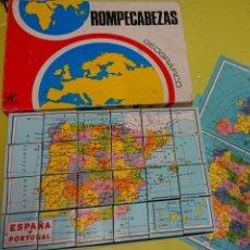 Puzzles: ANTIGUO PUZZLE ROMPECABEZAS GEOGRÁFICO DE JUGUETES BORRAS. Lote 166315674