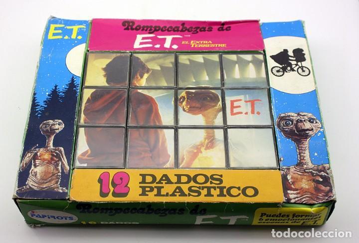 ET EL EXTRATERRESTRE - ROMPECABEZAS CUBOS DE PAPIROTS - AÑOS 80 - MADE IN SPAIN (Juguetes - Juegos - Puzles)