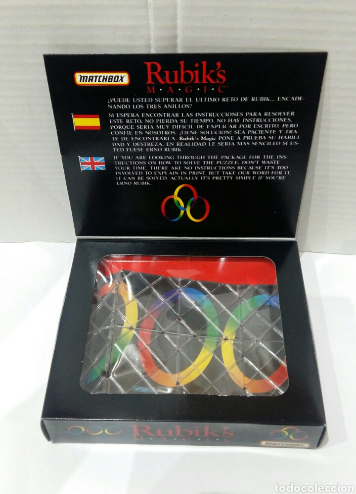 Puzzles: RUBIK'S MAGIC MATCHBOX.NUEVO EN CAJA.1986.UN RETO DIFÍCIL DE RESOLVER.RUBIK.ENCADENE ANILLOS.RUBIKS. - Foto 2 - 167622586