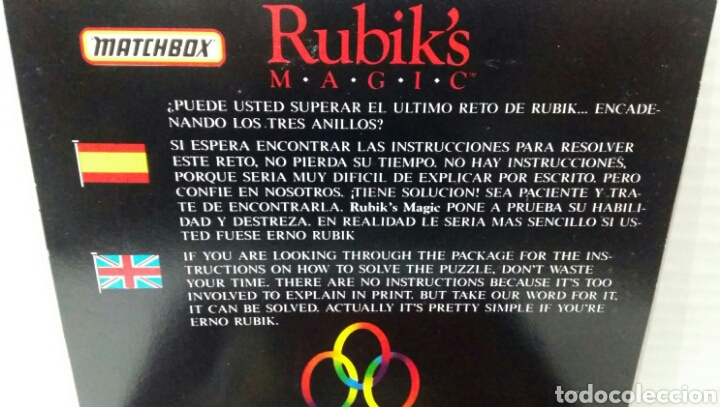 Puzzles: RUBIK'S MAGIC MATCHBOX.NUEVO EN CAJA.1986.UN RETO DIFÍCIL DE RESOLVER.RUBIK.ENCADENE ANILLOS.RUBIKS. - Foto 3 - 167622586