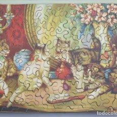 Puzzles: PUZZLE DE MADERA LITOGRAFIADO. GATOS AÑOS 20-30. Lote 168221196