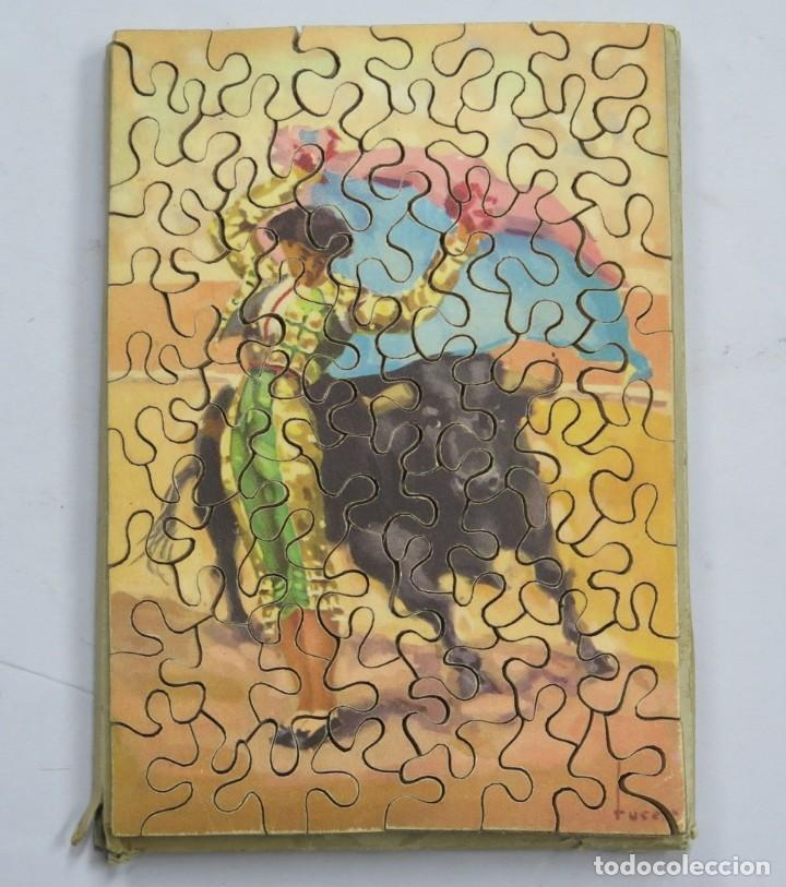 PUZZLE DE MADERA LITOGRAFIADO. TAURINO. AÑOS 20-30 (Juguetes - Juegos - Puzles)