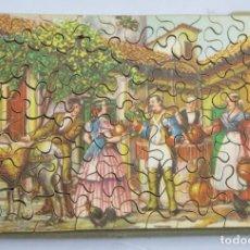 Puzzles: PUZZLE DE MADERA LITOGRAFIADO. ESCENA COSTUMBRISTA. AÑOS 20-30. Lote 168221316