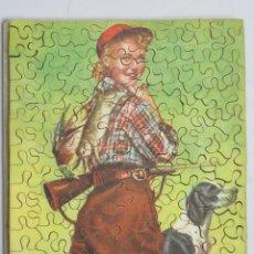 Puzzles: PUZZLE DE MADERA LITOGRAFIADO. JOVEN CAZADORA. AÑOS 20-30. Lote 168221472