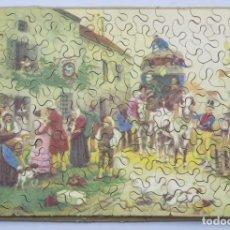 Puzzles: PUZZLE DE MADERA LITOGRAFIADO. ESCENA CON CARRUAJE. AÑOS 20-30. Lote 168221652
