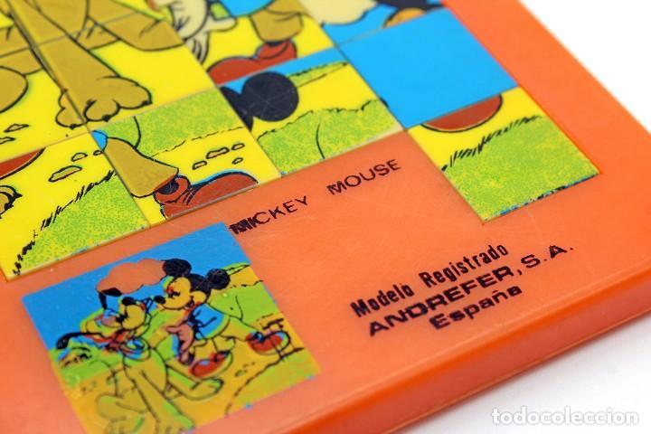 Puzzles: Pequeño puzzle Mickey Mouse. ANDREFER SA, Made in Spain. Original, años 70. Pequeño, mide 9 x 7,2 cm - Foto 2 - 168273636