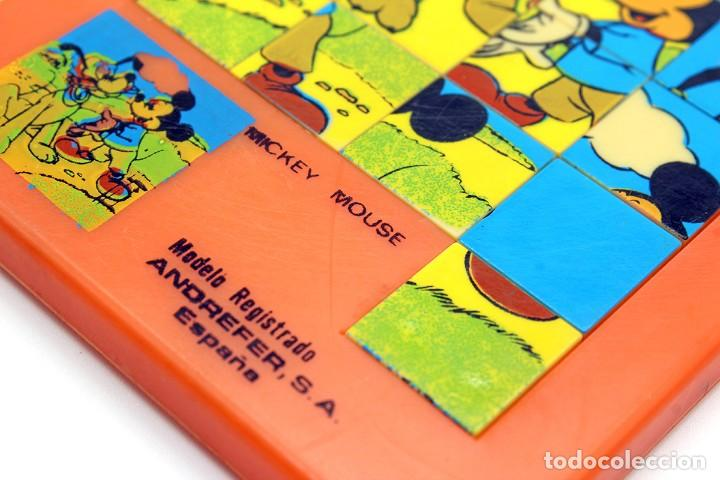 Puzzles: Pequeño puzzle Mickey Mouse. ANDREFER SA, Made in Spain. Original, años 70. Pequeño, mide 9 x 7,2 cm - Foto 5 - 168273636