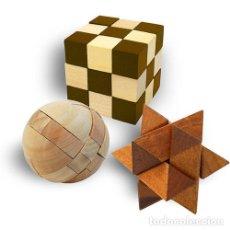 Puzzles: ROMPECABEZAS MENSA DE MADERA PUZZLES X 3 POCKET WOODEN HARDER EN CAJAS ORIGINALES NUEVOS SIN USO. Lote 252555685