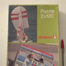 Puzzles: PUZZLE PELIKAN AÑOS 80, COCHE Y VELERO. Lote 170363288