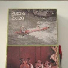 Puzzles: PUZZLE PELIKAN AÑOS 80, PERRO Y CANOA. Lote 170363748