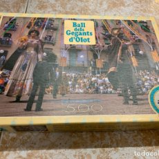 Puzzles: ANTIGU PUZZLE DE 500 PIEZAS DE LOS GIGANTES DE OLOT. LA CAJA MIDE APROX. 33X23CMS. Lote 170550784