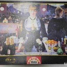 Puzzles: PUZZLE, EDUCA: 1000 PIEZAS. EL BAR DEL FOLIES-BERGERES 68X48 CM. Lote 170948023