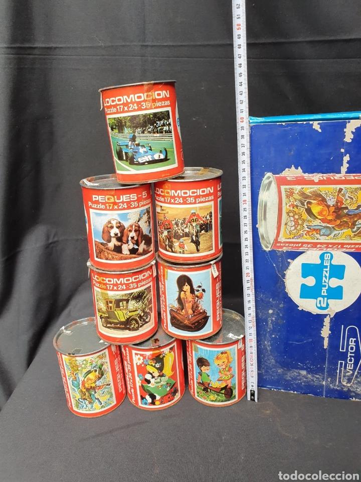 LOTE DE 8 PUZZLES EN LATA ANTIGUOS (Juguetes - Juegos - Puzles)