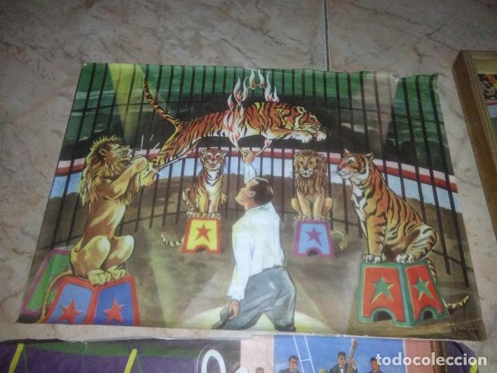 Puzzles: ROMPECABEZAS DE 35 cUBOS DE MADERA con PAPEL LITOGRAFIADO con ILUSTRACIONES del circo años 50 60 - Foto 2 - 171967415
