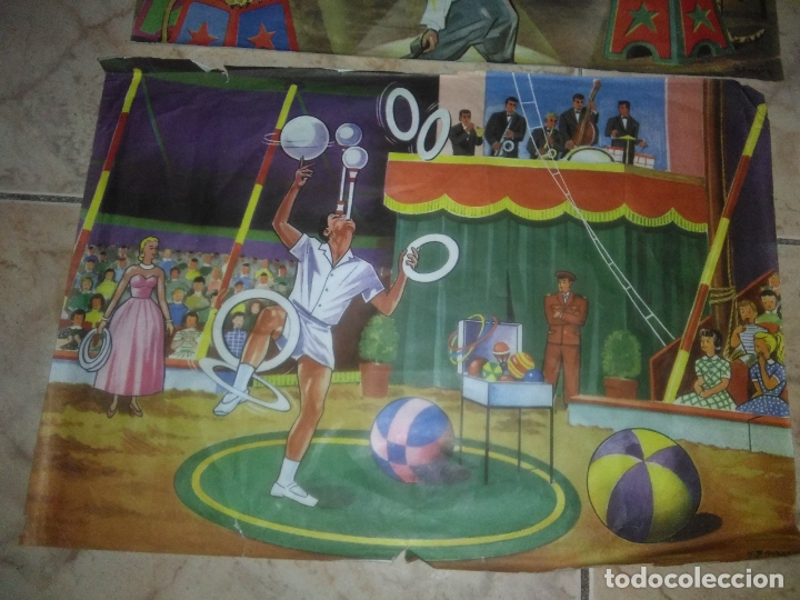 Puzzles: ROMPECABEZAS DE 35 cUBOS DE MADERA con PAPEL LITOGRAFIADO con ILUSTRACIONES del circo años 50 60 - Foto 3 - 171967415