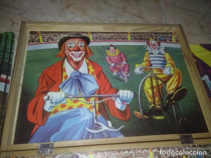 Puzzles: ROMPECABEZAS DE 35 cUBOS DE MADERA con PAPEL LITOGRAFIADO con ILUSTRACIONES del circo años 50 60 - Foto 4 - 171967415