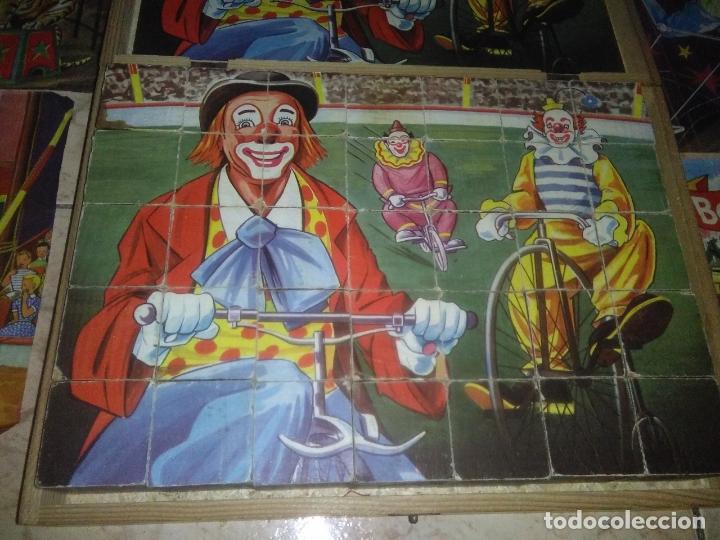 Puzzles: ROMPECABEZAS DE 35 cUBOS DE MADERA con PAPEL LITOGRAFIADO con ILUSTRACIONES del circo años 50 60 - Foto 5 - 171967415