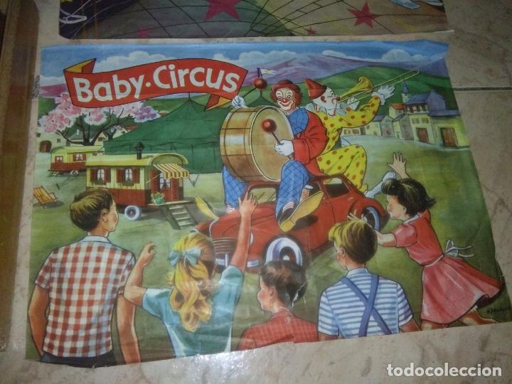 Puzzles: ROMPECABEZAS DE 35 cUBOS DE MADERA con PAPEL LITOGRAFIADO con ILUSTRACIONES del circo años 50 60 - Foto 7 - 171967415