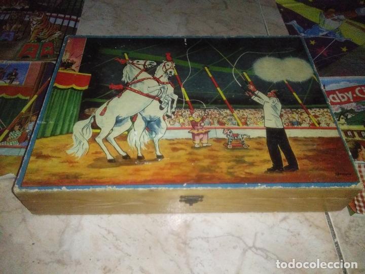 Puzzles: ROMPECABEZAS DE 35 cUBOS DE MADERA con PAPEL LITOGRAFIADO con ILUSTRACIONES del circo años 50 60 - Foto 8 - 171967415