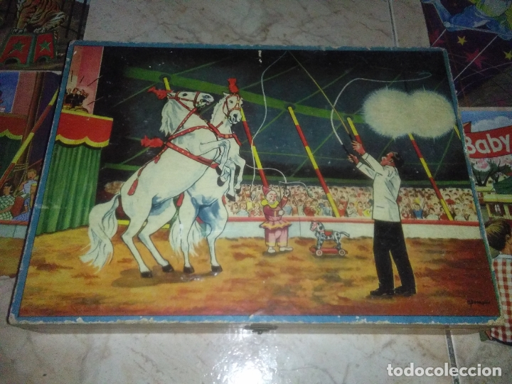 Puzzles: ROMPECABEZAS DE 35 cUBOS DE MADERA con PAPEL LITOGRAFIADO con ILUSTRACIONES del circo años 50 60 - Foto 9 - 171967415