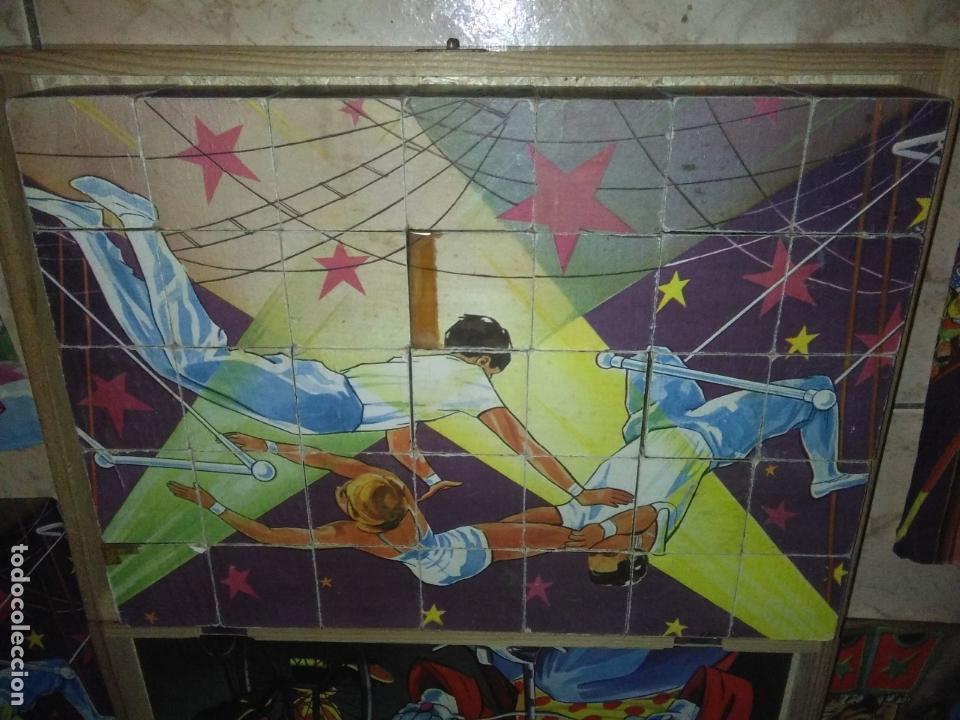Puzzles: ROMPECABEZAS DE 35 cUBOS DE MADERA con PAPEL LITOGRAFIADO con ILUSTRACIONES del circo años 50 60 - Foto 11 - 171967415