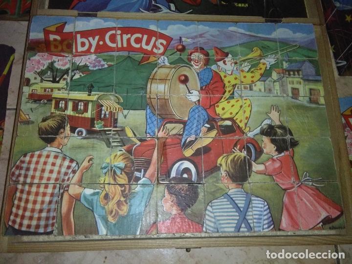 Puzzles: ROMPECABEZAS DE 35 cUBOS DE MADERA con PAPEL LITOGRAFIADO con ILUSTRACIONES del circo años 50 60 - Foto 13 - 171967415
