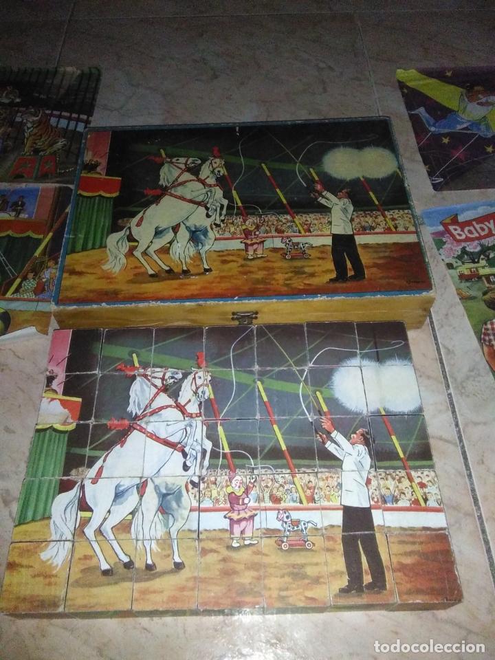 Puzzles: ROMPECABEZAS DE 35 cUBOS DE MADERA con PAPEL LITOGRAFIADO con ILUSTRACIONES del circo años 50 60 - Foto 14 - 171967415