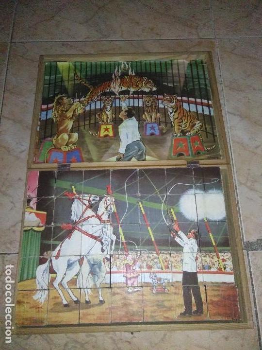 Puzzles: ROMPECABEZAS DE 35 cUBOS DE MADERA con PAPEL LITOGRAFIADO con ILUSTRACIONES del circo años 50 60 - Foto 18 - 171967415