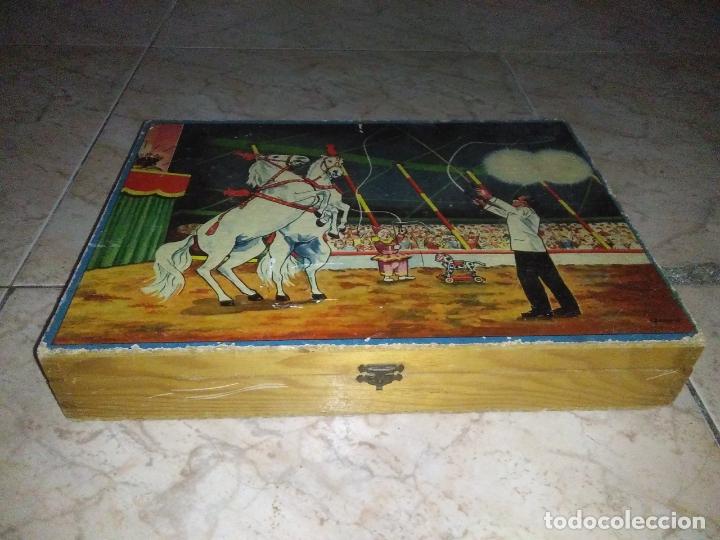 Puzzles: ROMPECABEZAS DE 35 cUBOS DE MADERA con PAPEL LITOGRAFIADO con ILUSTRACIONES del circo años 50 60 - Foto 19 - 171967415