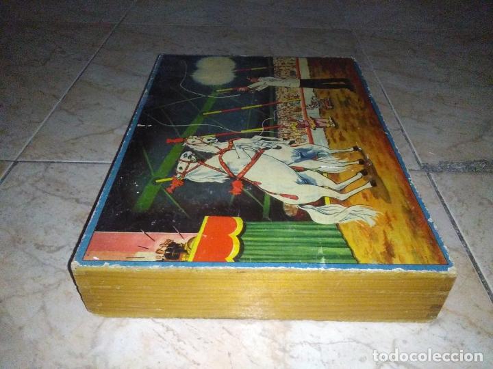 Puzzles: ROMPECABEZAS DE 35 cUBOS DE MADERA con PAPEL LITOGRAFIADO con ILUSTRACIONES del circo años 50 60 - Foto 20 - 171967415