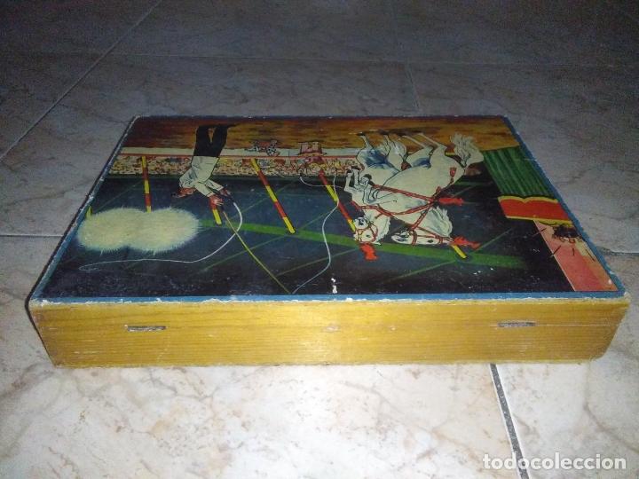 Puzzles: ROMPECABEZAS DE 35 cUBOS DE MADERA con PAPEL LITOGRAFIADO con ILUSTRACIONES del circo años 50 60 - Foto 21 - 171967415
