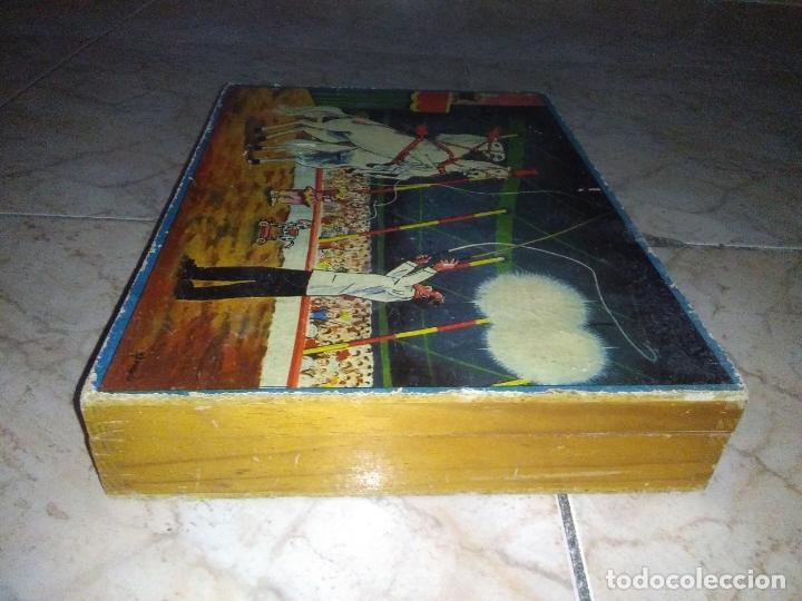 Puzzles: ROMPECABEZAS DE 35 cUBOS DE MADERA con PAPEL LITOGRAFIADO con ILUSTRACIONES del circo años 50 60 - Foto 22 - 171967415