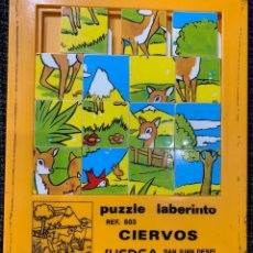 Puzzles: PUZZLE LABERINTO REF. 503 CIERVOS DE JUEDSA. Lote 172250930