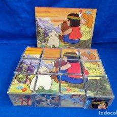 Puzzles: JAKCY - ROMPECABEZAS EN CUBOS DE PLASTICO - EL OSO DEL BOSQUE DE TALLAC, VER FOTOS!. Lote 173593565