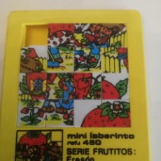 Puzzles: MINI LABERINTO SERIE FRUTITOS FRESÓN. RARO. Lote 174018643