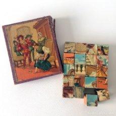 Puzzles: PUZLE ROMPECABEZAS CUBOS CON LÁMINAS ILUSTRACIONES - AÑOS 30. Lote 174047350