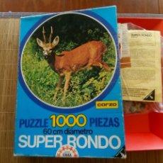 Puzzles: PUZZLE CORZO, 1000 PIEZAS, EDUCA SUPER RONDO. Lote 174080377