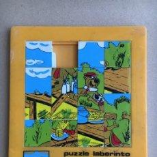 Puzzles: JUEDSA PUZZLE LABERINTO REF. 530 - OSO YOGUI Y BUBU - HANNA-BARBERA YOGI BEAR. Lote 174511335