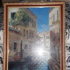 Puzzles: PUZZLE DE VENECIA ENMARCADO CON PRECIOSO MARCO DORADO DESDE 5 EUROS VER FOTOS DESCRIPCION. Lote 175689199