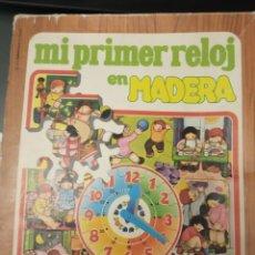 Puzzles: MI PRIMER RELOJ EN MADERA, ROMPECABEZAS Y JUEGO. JUEGOS EDUCA. AÑOS 70/80. Lote 176399269