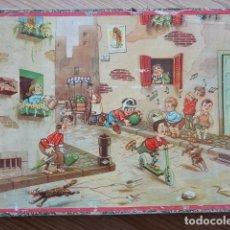 Puzzles: ANTIGUO ROMPECABEZAS CON 48 CUBOS DE CARTÓN - AÑOS 40/50 - FABRICADO POR LA POLAR (MANRESA) -PUZLE. Lote 176628249
