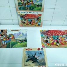 Puzzles: 3 PUZZLES DISNEY: PLANES (AVIONES), MICKEY, GOOFY, MINNIE. Lote 176946509