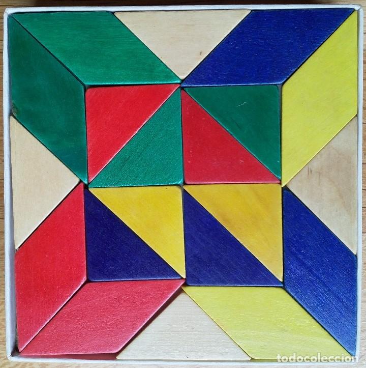 Puzzles: TANGRAM PIEZAS MADERA DE COLORES SIOLIET - Foto 3 - 177696027