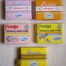 Puzzles: LOTE CINCO PUZZLES PROMOCIONALES DE YOGURES CHAMBURCY DE NESTLÉ. AÑOS 80. Lote 179146970