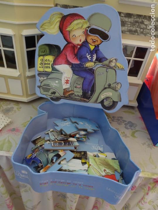 Puzzles: JUAN FERRANDIZ - PUZZLE 24 PIEZAS - OLGA Y JORGE EN VESPA - Foto 2 - 179517032