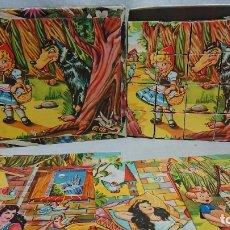 Puzzles: ANTIGUO ROMPECABEZAS CUENTOS ANIMADOS CUBOS DE CARTÓN AÑOS 50. Lote 181145332