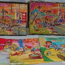 Puzzles: ANTIGUO ROMPECABEZAS CUBOS DE CARTÓN AÑOS 50. Lote 181146042