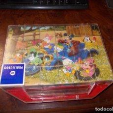 Puzzles: PUZZLE DE CUBOS DISNEY CON SEIS LÁMINAS PARA TANTO PUZZLES. CLEMENTONI, MADE IN ITALY, CAJA C/ROTURA. Lote 181208023