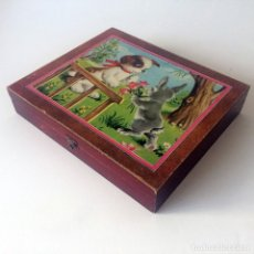 Puzzles: PUZLE ROMPECABEZAS CUBOS CON LETRAS E ILUSTRACIONES. Lote 182828757